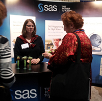SAS booth at SIGCSE