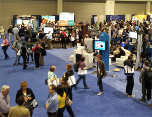 Photo of exhibit hall at SIGCSE
