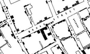 Data visualization - cholera map of Soho