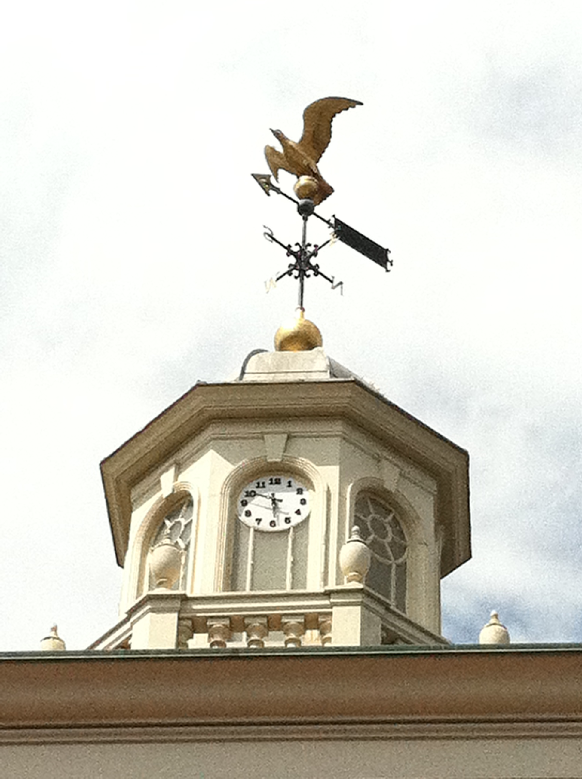"Look for the ""P"" for ""Positivity"" on the weather vane."