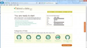 Acxiom's AboutTheData.com lets individuals log in to see and edit their own profile data.