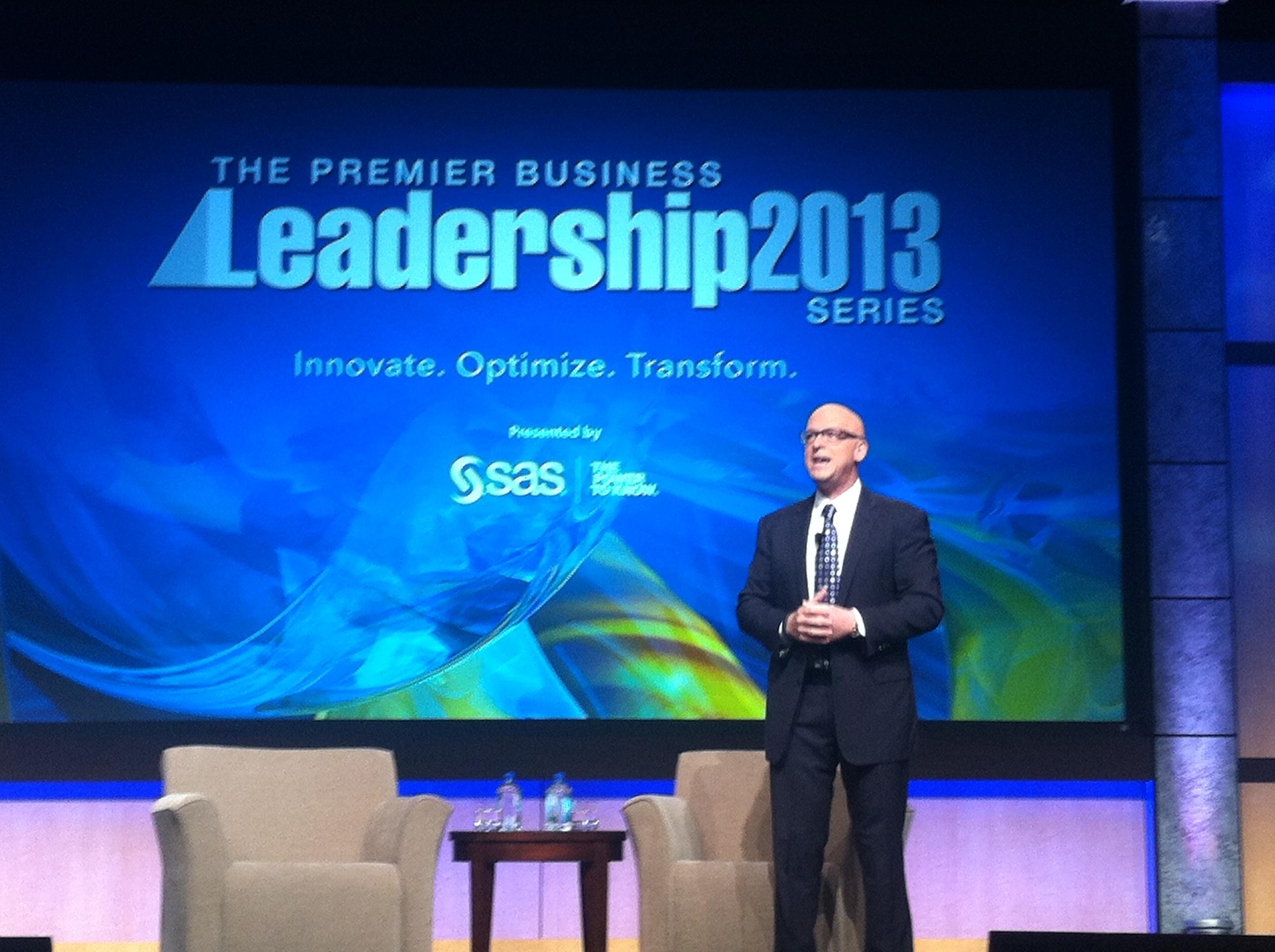 Mark Jeffries, Keynote speaker at the Premier Business Leadership Series conference.