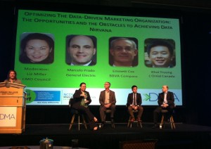 The lunch panel at NCDM included executives from General Electric, BBVA Compass, L'Oreal Canada and the CMO Council.