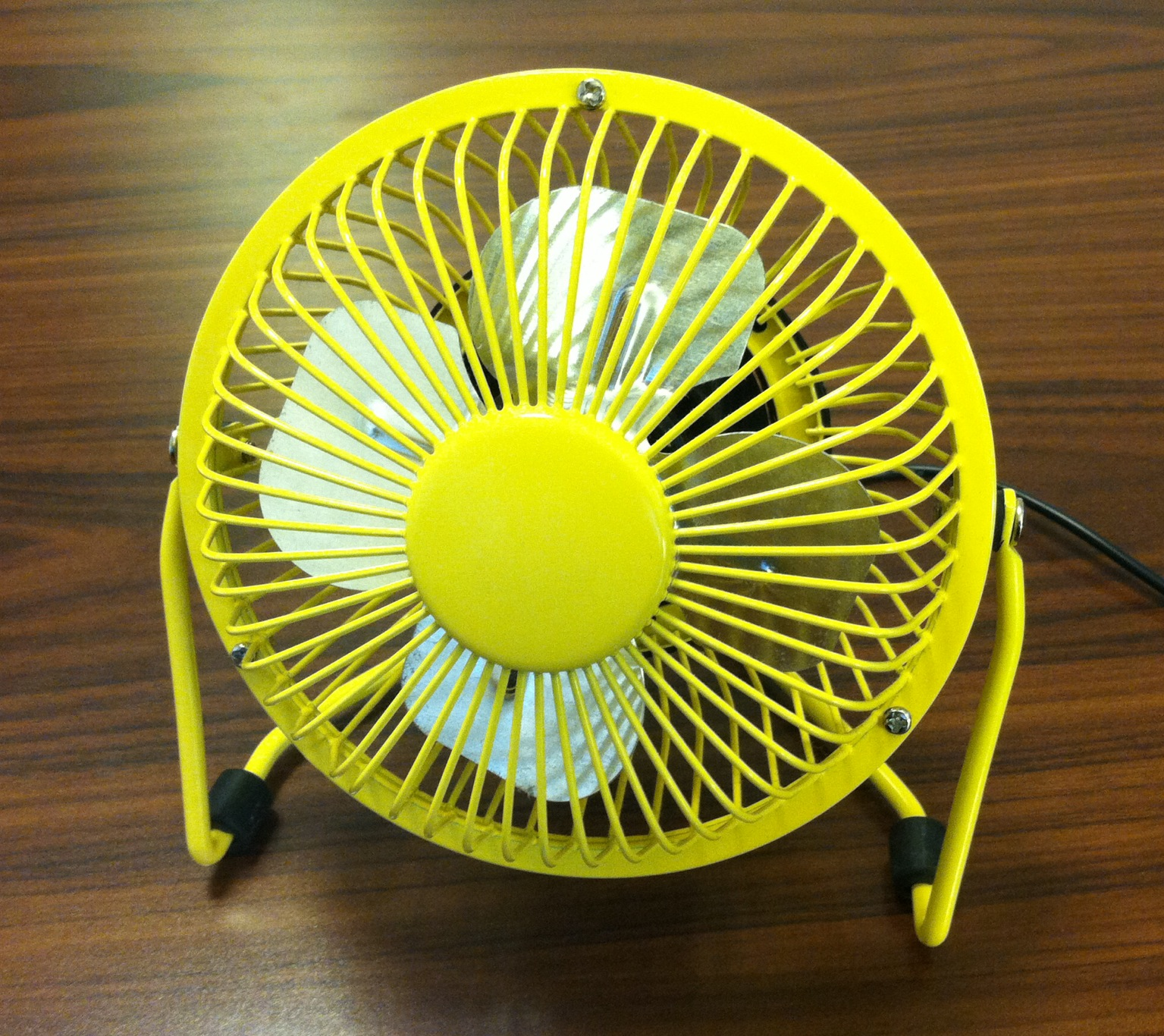 This desk fan is not the kind we're talking about.