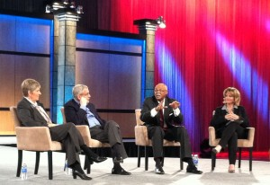 Jill Dyche moderated a panel at SAS Global Forum Executive Conference.