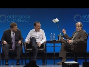 The main stage panel discussion at Enterprise Connect.
