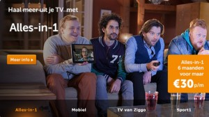 Ziggo customers need internet, TV and telephony services.