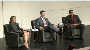SAS's Sarah Rittman moderated a panel discussion with BCBSNC's Michael Parkerson and FloridaBlue's GuideWellConnect's Raj Vavilala.