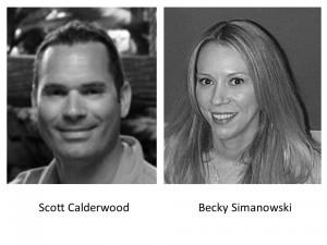 Scott Calderwood and Becky Simanowski of the SAS Digital Marketing team.