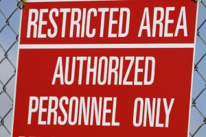 Restricted area: Authorized personnel only.