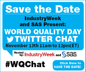 World Quality Day Twitter Chat is at 11am ET on Thursday, Nov. 13, 2015