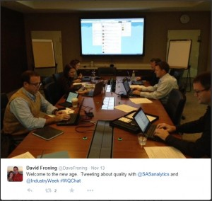 SAS and IndustryWeek on the quality-themed #WQChat on Twitter.