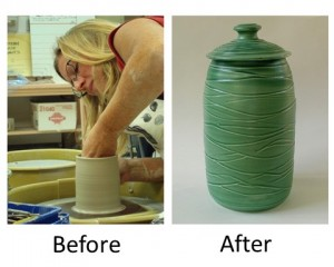 Making pottery out of clay involves both art and science.