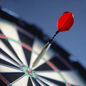 Accurate targeting - like playing darts.
