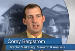 Corey Bergstrom is the Director f Marketing Research & Analytics at Cabela's.