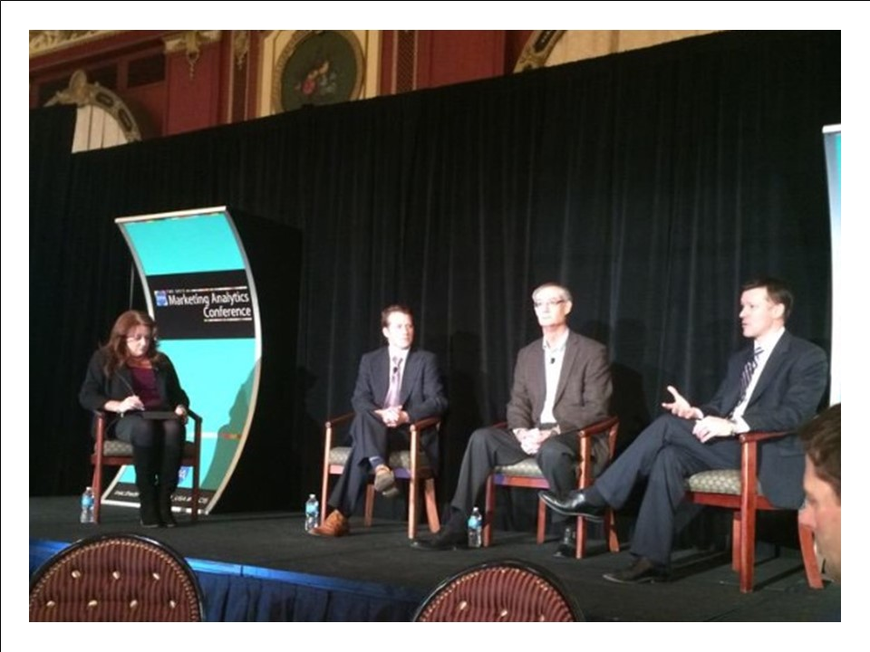The keynote panel at the Marketing Analytics Conference.