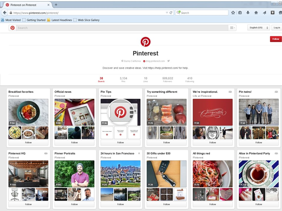 Pinterest.com is a good example of card design of a web site.