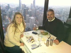 Fine dining 95 floors above street level in Chicago.