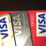 The Visa logo is on many debit and credit cards.