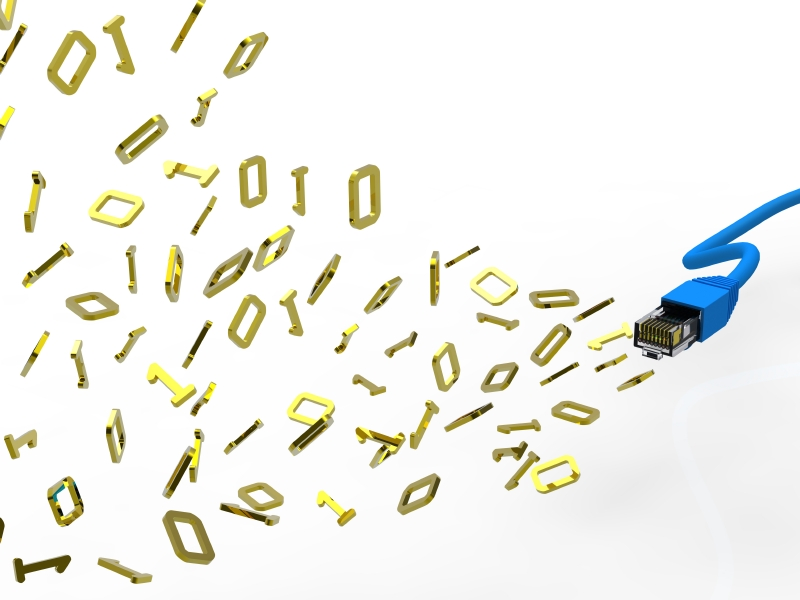 Gold letters representing big data