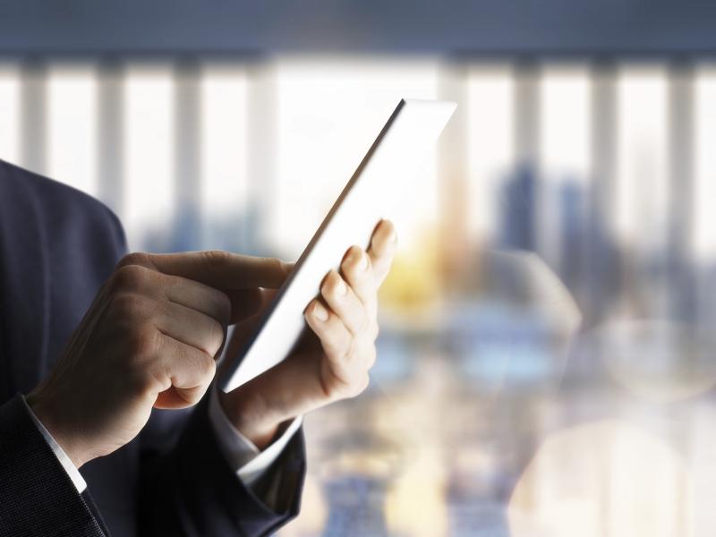 data access via tablet