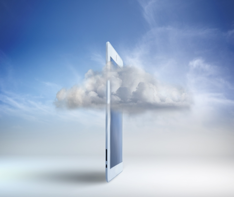 tablet in the cloud