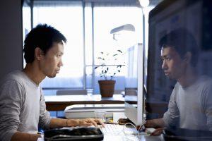 businessman considering data governance and hard or soft skills