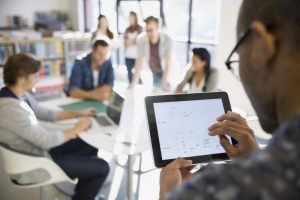 employee practicing self-service data preparation