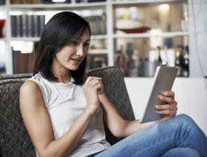 online shopper expecting privacy, security and speed