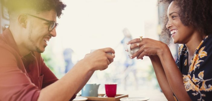 couple talking about naming things over a cup of tea