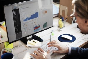 Businessman analyzes data that's ready for analytics