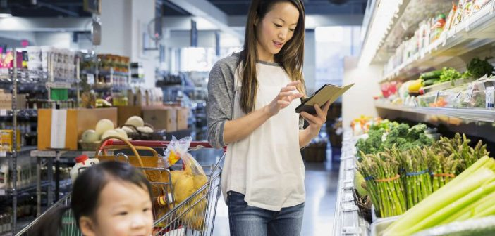 Shopping mom considers data privacy concerns