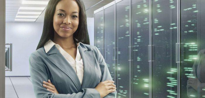 Confident businesswoman considers data lake governance