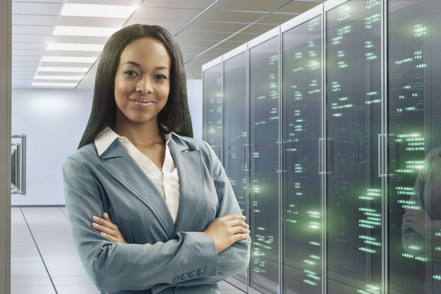 Confident businesswoman considers data lake governance