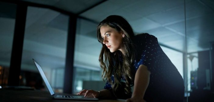 Woman working late to implement record-level security