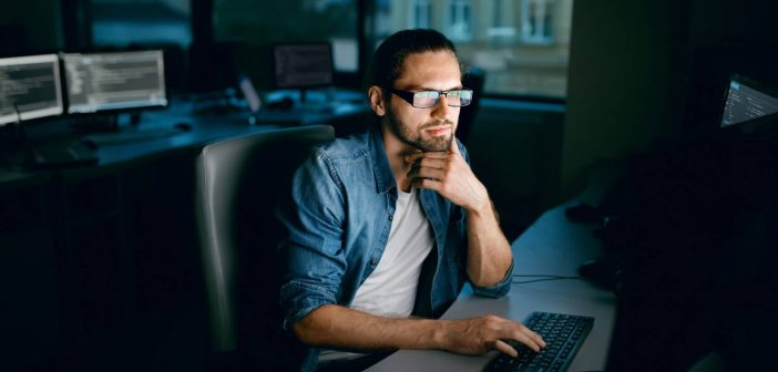 Businessman working on reference data governance