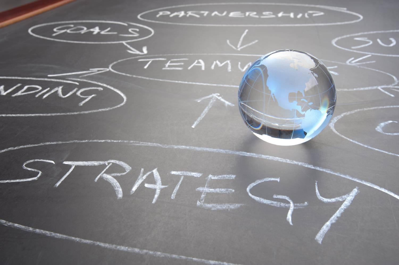Flowchart on a chalkboard