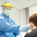 Man receiving coronavirus test