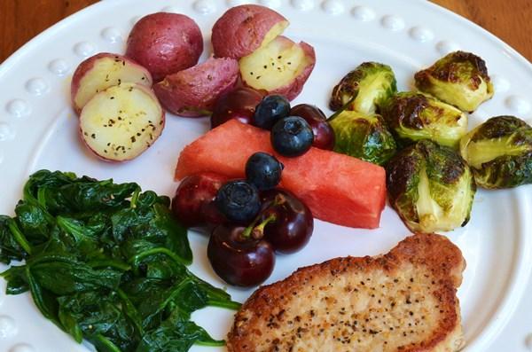 montreal pork chop meal