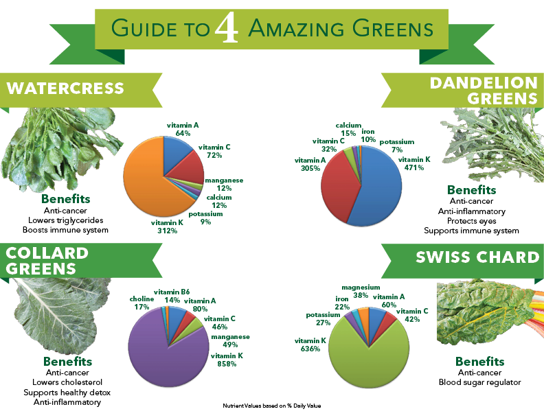 Guide to Greens Infographic