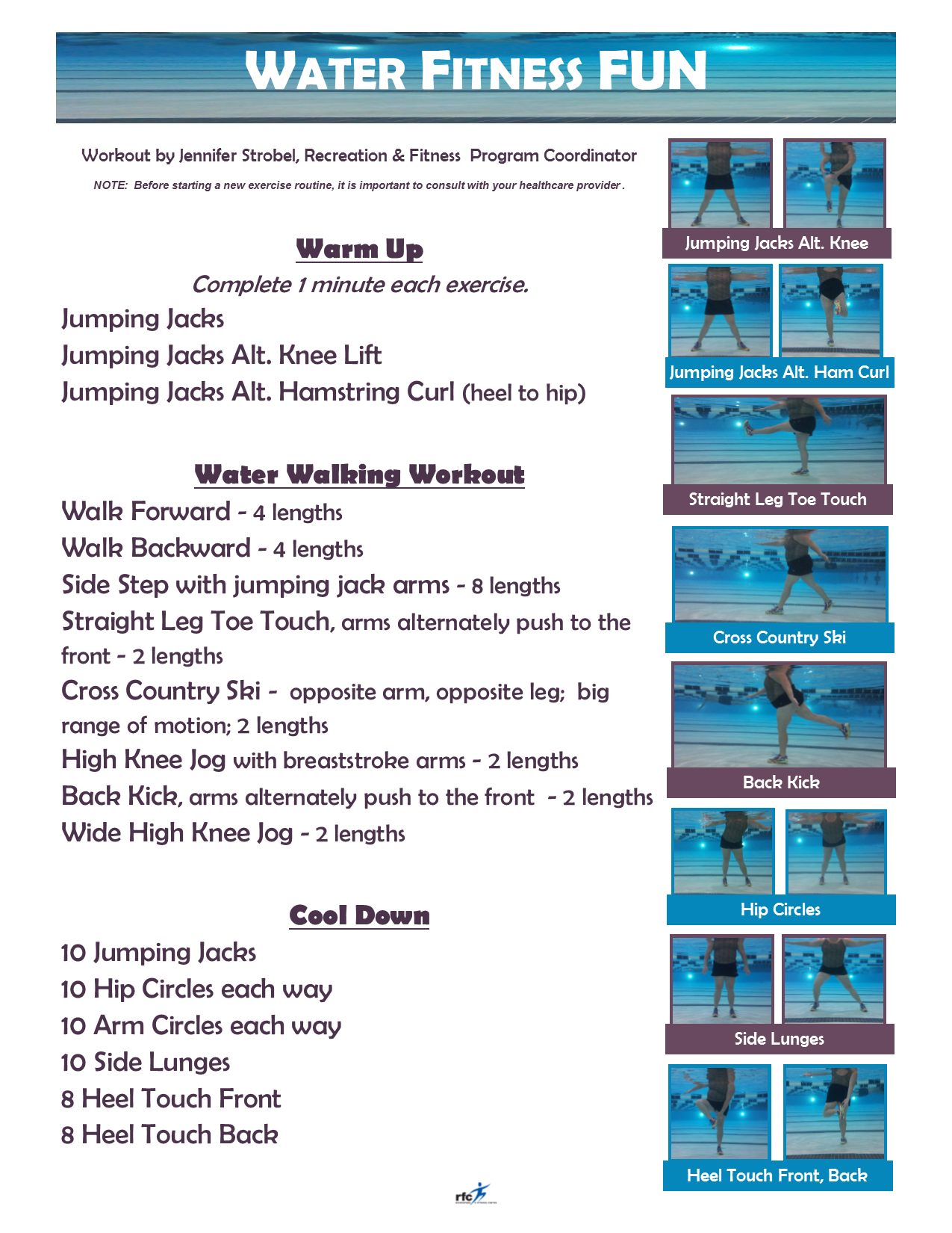 Water Fitness Fun By Jennifer Strobel