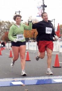 Philadelphia Marathon Finish, 2007