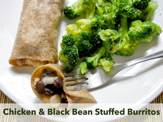 chicken-black-bean-burrito