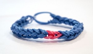 Pink-and-Blue-bracelet Breast Cancer