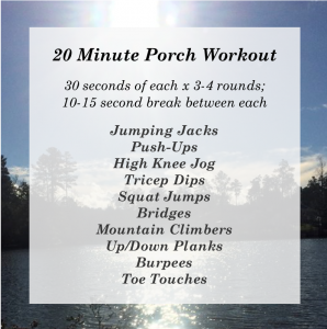 20 Minute Porch Workout Chelsea June 2016