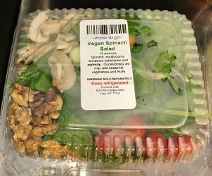 Food to Go Vegan Spinach salad