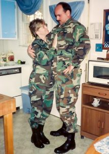 Michelle and Raymond Ryals in uniform
