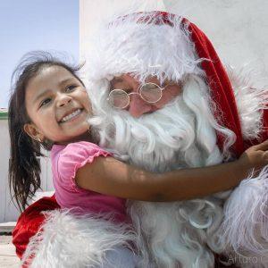 Enrique dressed as Santa