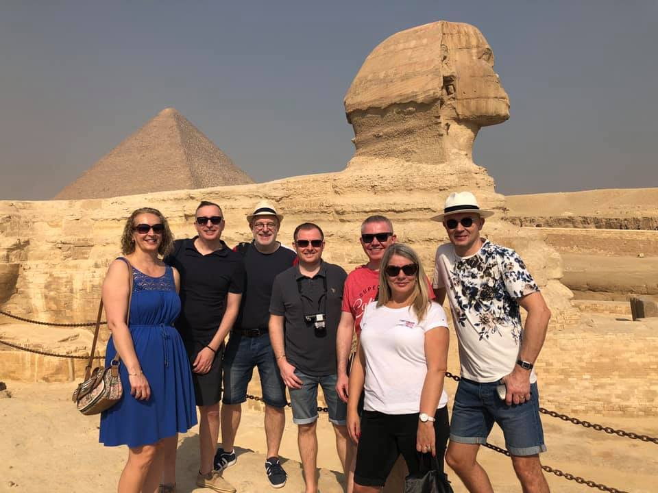 Nigel on vacation in Egypt
