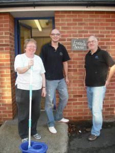 Nigel standing with other Samaritans volunteers.